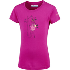 Columbia Little Canyon T-shirt Meisjes, haute pink